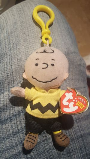 Charlie Brown Beanie Baby keychain for Sale in Hayward, CA