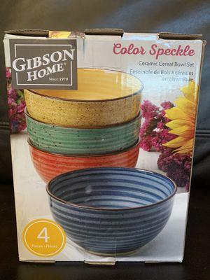 Ceramic bowl set new 4 piece set for Sale in Sacramento, CA