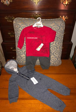 Brand NEW!!! Calvin Klein outfits for baby boy 💙 Size 12 months for Sale in Chesapeake, VA