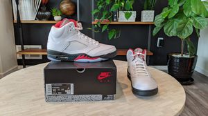 Jordan 5 Retro Fire Red Silver Tongue (2020) for Sale in Denver, CO