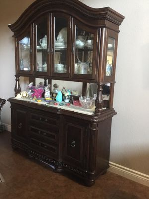 Cherry wood China cabinet for Sale in Osage Beach, MO