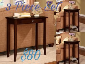 New 3 piece console table set $80 for Sale in Dallas, TX