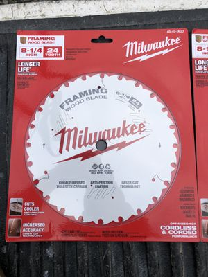 Milwaukee 8 1/4 wood blade 24tooth for Sale in Alhambra, CA