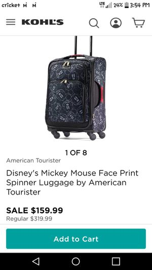"""Luggage Mickey face print 28"""" for Sale in El Monte, CA"""