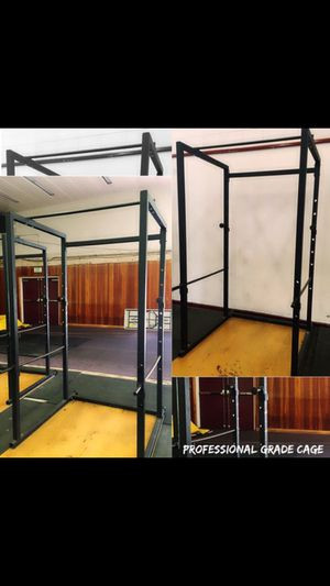 DISCOUNTED SPECIAL • COMMERCIAL CAGE WEIGHT RACK PLUS BAR WEIGHTS for Sale in San Diego, CA