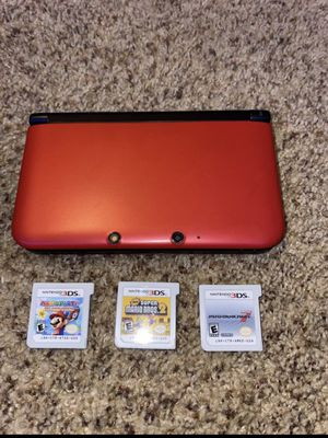 Nintendo 3ds XL with Mario Games for Sale in Scottsdale, AZ