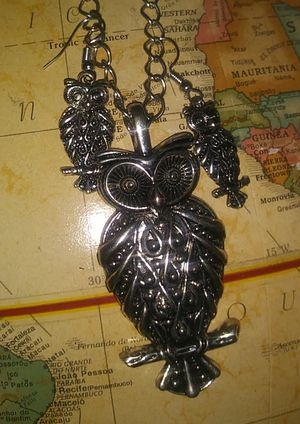 Owl vintage multi charm necklace for Sale in Long Beach, CA