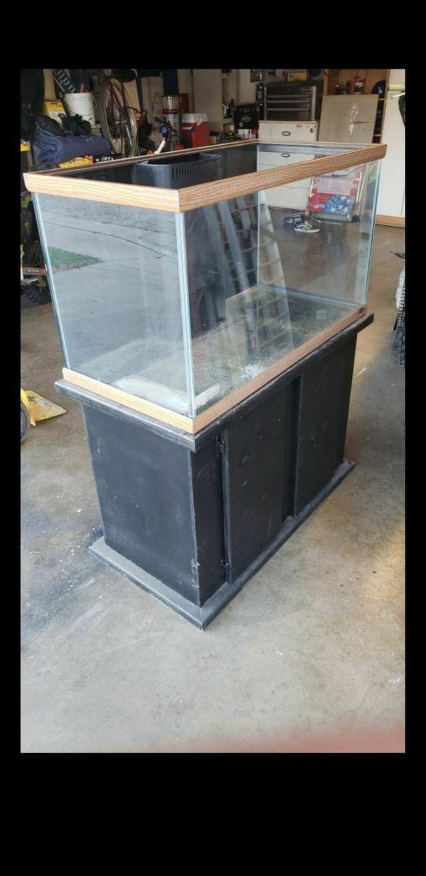 Aquarium with stand. 60 gallon