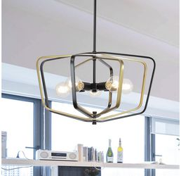 5 Light VINLUZ Farmhouse Pendant Lighting w Golden Metal &Clear Glass Kitchen Light Fixtures for Sale in Indianapolis,  IN