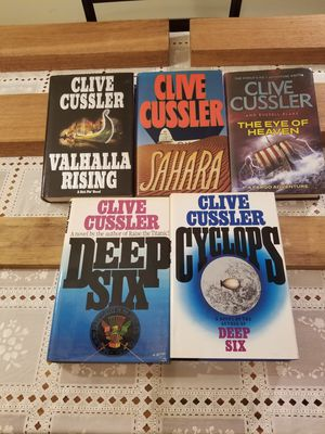 Lot of 45 Clive Cussler-- 3 SIGNED -- books ALL 1st Editions for Sale in Port St. Lucie, FL