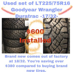 Used set of LT225/75/16 Goodyear for Sale in Matawan, NJ