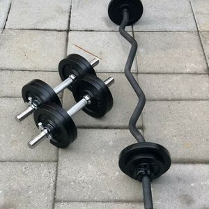 Weights, Standard Curl Bar, and Dumbbell for Sale in San Jose, CA