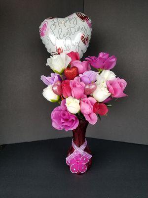 Valentine's Silk Flower Arrangement for Sale in Spring Hill, FL