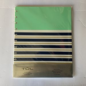 TUL Custom Note-Taking System Discbound Notebook Covers 8.5x11 Mint Stripes 2Pk for Sale in Chino, CA