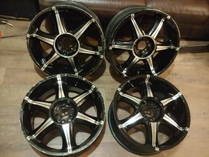 4 - black and chrome rims for Sale in Tampa, FL