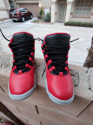 Red and black Jordan 10s youth size 4 in good condition for Sale in Henderson, NV