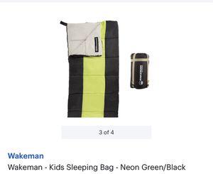 Wakeman - Kids Sleeping Bag - Neon Green/Black for Sale in Alexandria, VA