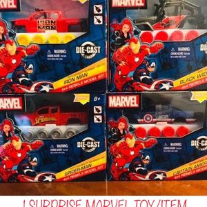 Set Of 4 Marvel Rebel Model Trucks+1 Mystery Bonus Marvel Collectible Toy for Sale in Pompano Beach, FL