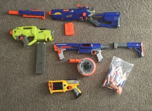 Assortment of nerf guns for Sale in Portland, OR