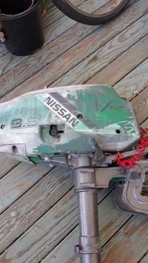 Nissan 3.5 2stroke outboard motor for Sale in East Providence, RI