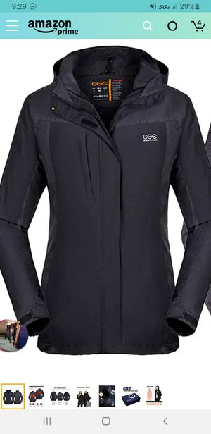 New XL//Venustas [2019 New] Women's 3-in-1 Heated Jacket with Battery Pack, Ski Jacket Winter Jacket with Removable Hood Waterproof for Sale in Las Vegas, NV