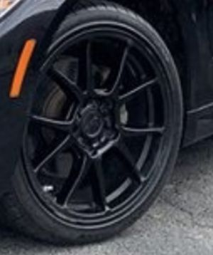"(4)18"" Black Niche Rims wrapped in Kumho Tires for Sale in Lanham, MD"