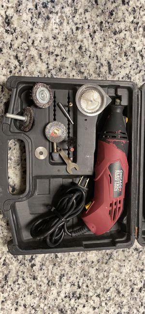 Chicago Electric Power Tools Variable Speed Rotary Tool All accessories for Sale in Revere, MA