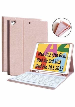 """iPad 7th Generation Case Keyboard 10.2"""" 2019, Keyboard Case for iPad Air 3 10.5"""" 2019 (3rd Gen)/iPad Pro 10.5 inch 2017-Detachable Wireless Bluetooth for Sale in Chino, CA"""