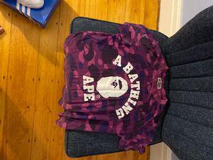 Bathing Ape Purple Camo Shirt with OG bag for Sale in DORCHESTR CTR, MA