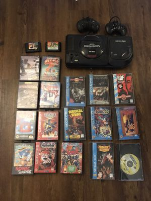 Sega Genisus with CD player and games for Sale in Escondido, CA