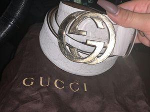 100% Authentic White/Cream Gucci Belt for Sale in Berlin, CT