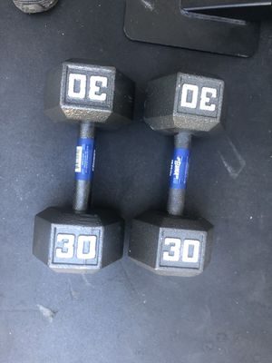 Pair of 30lbs dumbbells brand new for Sale in Los Angeles, CA