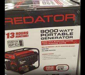 Predator generator 9000 watts for Sale in McKeesport, PA