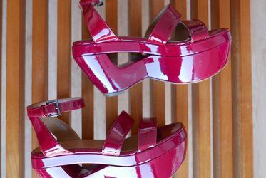 Alaïa Patent Leather Ankle Strap Platform Sandals for Sale in Washington,  DC