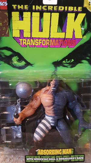 HIGHLY COLLECTABLE The Incredible Hulk ABSORBING MAN Transformations Action Figure Marvel for Sale in Chandler, AZ