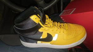 "NIKE AIR FORCE 1 HIGH '07 LV8 ""BLACK YELLOW OCHRE"" Size 11 for Sale in Gardena, CA"