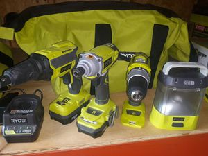 Ryobi 18v drill set for Sale in San Antonio, TX