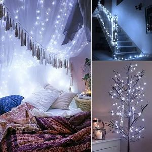200 LED solar copper wire string decorative garden lamp party lamp fairy light - Cold White for Sale in Ontario, CA