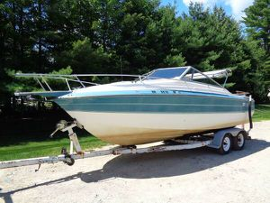 1990 Larson delta sport 215 cuddy boat with trailer will trade for Sale in Westford, MA