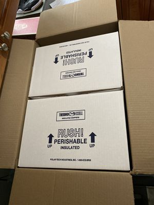 Insulated shipping boxes (2 boxes) for Sale in South Brunswick Township, NJ