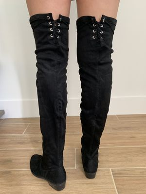 Black Cloth Thigh High Boots for Sale in Miami, FL