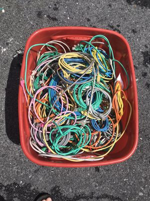 Bucket of Ethernet Cables for Sale in Hershey, PA