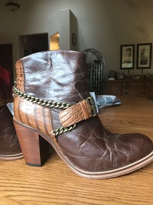 Women's artisan hand crafted all leather boots for Sale in Olympia, WA