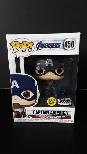 Funko Pop!FYE Exclusive GITD Captain America for Sale in Federal Way, WA