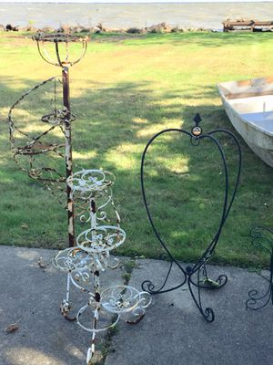 Vintage Wrought Iron Swivel Plant Stands for Sale in New Baltimore, MI