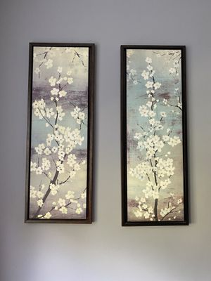 x2 Floral Framed Canvas Prints for Sale in Greenwich, CT