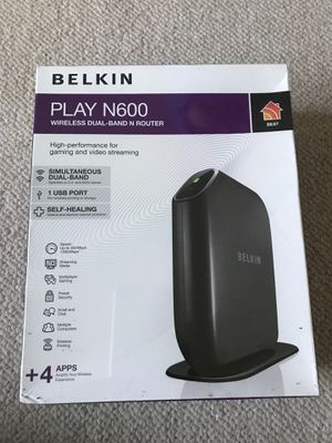 Belkin Play N600 wireless dual- band N router for Sale in Gaithersburg, MD