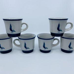 Noritake Stoneware Running Free Sailboat Flat Cup Mugs for Sale in San Antonio, TX