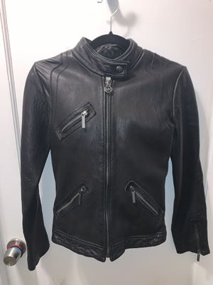Michael Kors Womens Black Leather Jacket for Sale in Livermore, CA