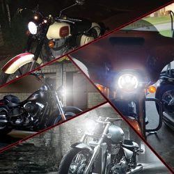 7″ DOT Approved Motorcycle Headlight w/DRL Function Halo LED Headlight for Harley Davidson Road King Touring Ultra Classic Electra Street Glide for Sale in Ontario,  CA